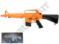 M308 BB Gun M16 Short Replica Spring Powered Airsoft Rifle 2 Tone Orange Black